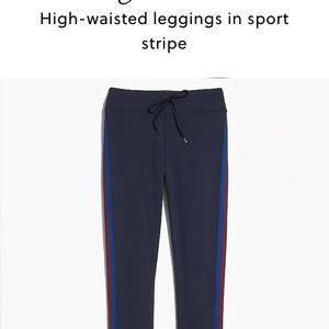 J. Crew Pants - Jcrew high waisted legging in sport stripe